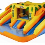 Blast Zone Rainforest Rapids Inflatable Bouncer with Slides