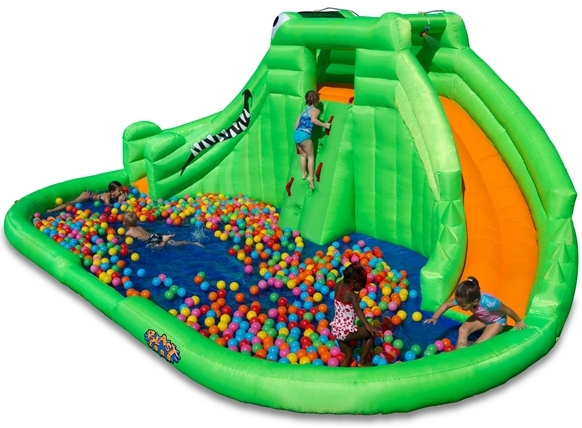 Blast Zone Crocodile Isle Water Park with slide for kids