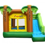 Jungle Inflatable Bounce House with Slide for kids