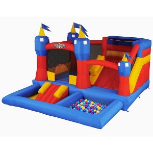 Blast Zone Misty Kingdom Inflatable Bouncer with slide