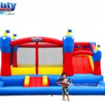 Blast Zone Misty Kingdom Inflatable Bouncer with water slide