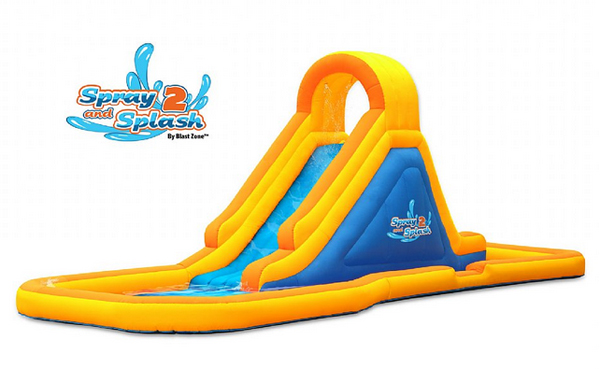 blast zone spray and splash 2 inflatable water park